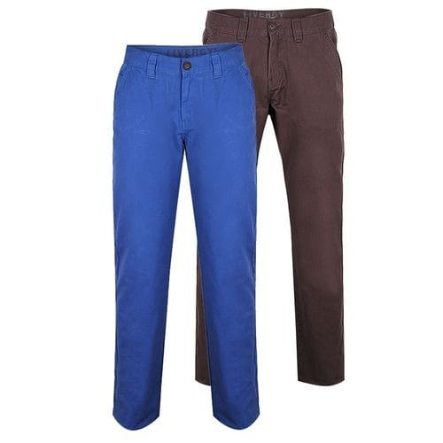 2 Pack Chinos - Grey & Blue