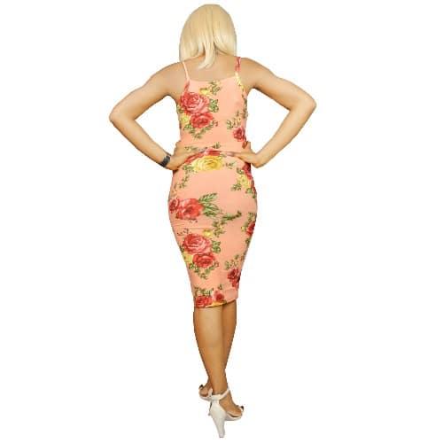 bade653b810f75 House of Julieta Floral Print Bodycon Dress