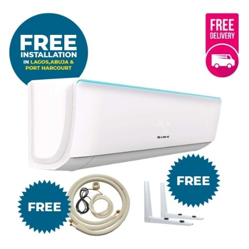 Split Unit Ac 1.5hp With Standard Installation Kit- Bora + Free Delivery + Free Wall Hanger.
