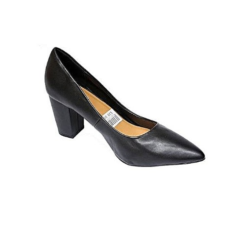 69170929443 Ladies' Block Heel Court Shoes - Black