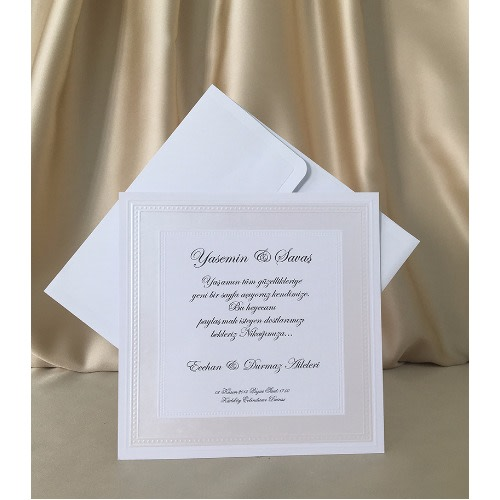 Pack Of 100 Wedding Invitation Card White 4030