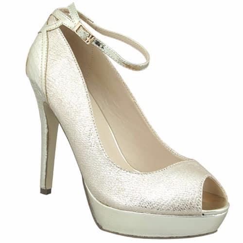 promo code e2cba 07d08 Pacomena By Menbur Champagne Gold Shoe