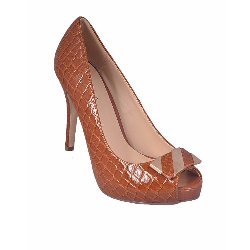 Pacomena Women's Open Toe Court Shoe - Brown