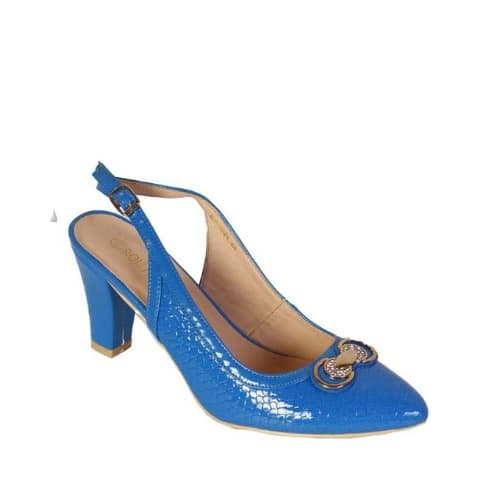 P a Patent-Leather-Slingback-Heels---Blue