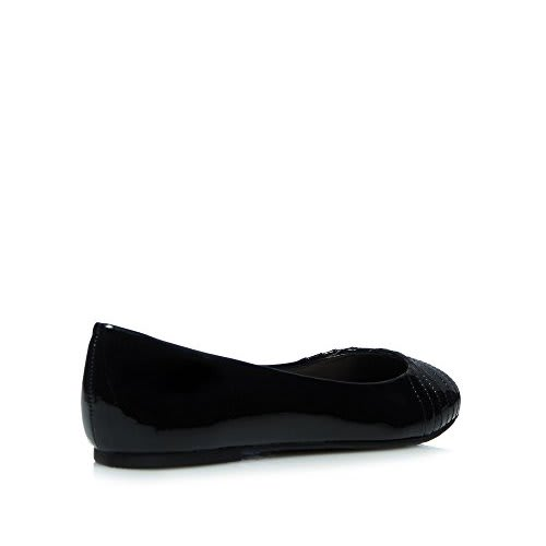 e9207526e38 Good For The Sole Patent Wide Fit Slip-On Flat Shoes - Black