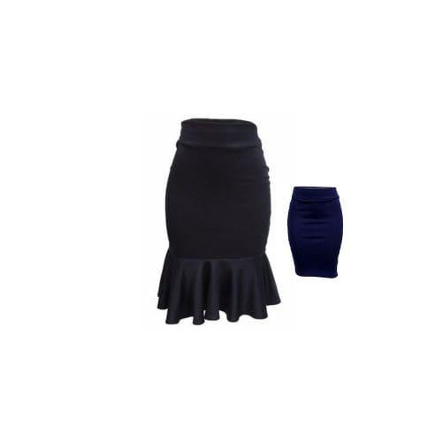 abe4462281 Pencil Skirt & Peplum Skirt Combo - Black & Navy Blue   Konga Online ...