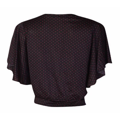 63cf4a93caf Canill Pink Polka Dot Elastique Butterfly Sleeve Blouse
