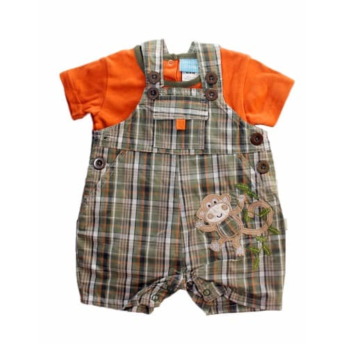 /P/l/Plaid-Dungarees-and-T-Shirt---Orange-and-Army-Green-6447030_1.jpg