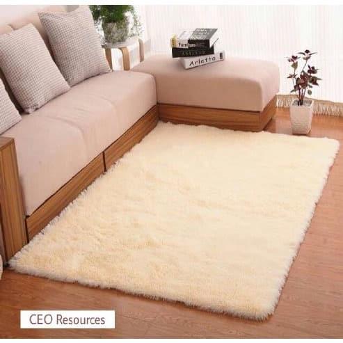 Plain Shaggy Center Rug 120x160 Cm Beige Konga Online Shopping