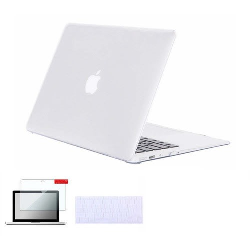 best loved 19e6d f0dd0 Plastic Hard Case + Keyboard Cover + Screen Protector for MacBook Pro 13  Inch Retina Display
