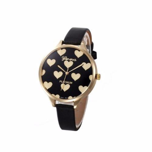 111b272e1 Geneva Platinum Thin Leather Love Watch - Black   Konga Online Shopping