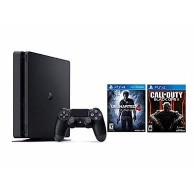96e2b5930ba18 Sony PlayStation 4 Slim 500GB Console - Uncharted 4 Bundle and Call of Duty  Black OPS III