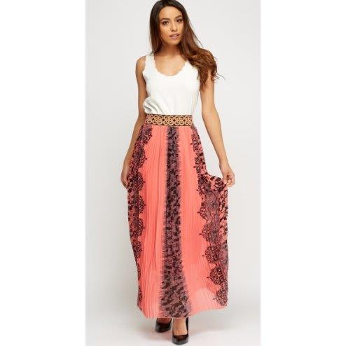 /P/l/Pleated-Print-Maxi-Skirt---Peach-Multicolour-8006622_1.jpg