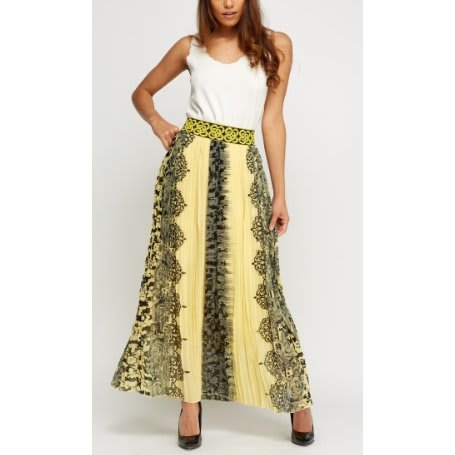 /P/l/Pleated-Print-Maxi-Skirt---Yellow-Multicolour-7999961_1.jpg