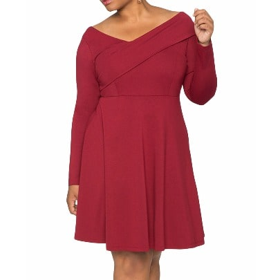 /P/l/Plus-Size-Cross-Shoulder-Fit-Skater-Dress---Red-6854975_5.jpg
