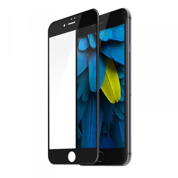Premium Tempered Glass Screen Protector For iPhone 7 - Black