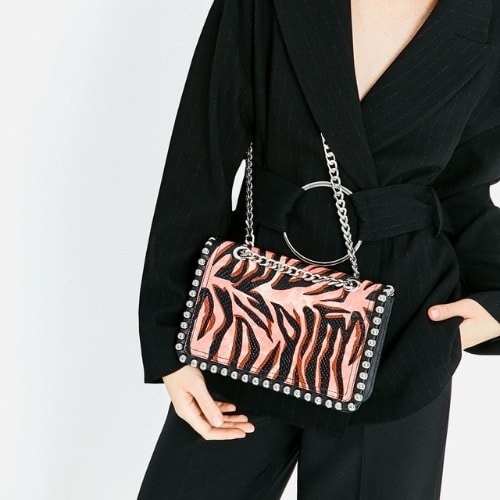 fe3004bd Print Leather Crossbody Bag