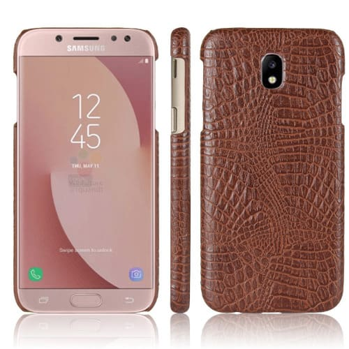 size 40 e7b9c adfc7 Pu Leather Back Case for Samsung J7 Pro - Brown