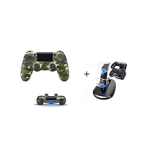 PS4 Pad - Dualshock 4 Wireless Controller - Camo + Free Two Pads Charger