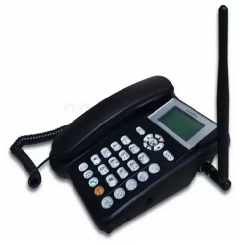 Fixed Wireless Gsm Table-top Phone Cordless - Black