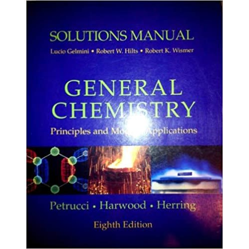 Solutions Manual: General Chemistry