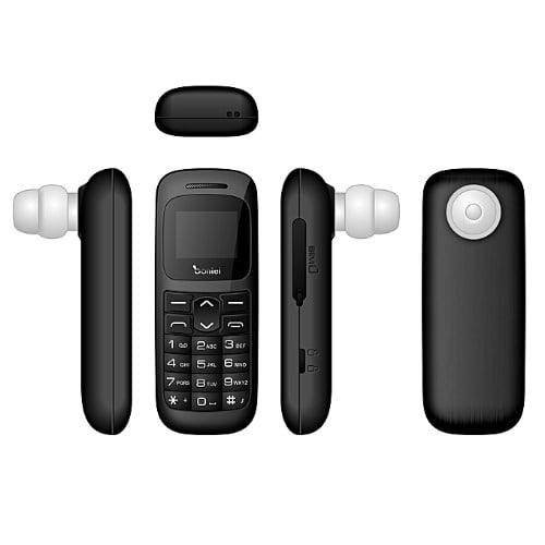 E1 Mini Phone-2 In 1 Bluetooth Earphone - Black