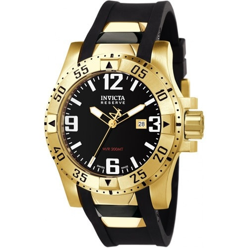 6255 Men's Excursion Quartz 3 Hand Black Dial Large Watch
