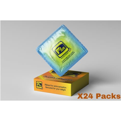 Strawberry Flavored Condom  - 24 Packs Of 72 Pieces.