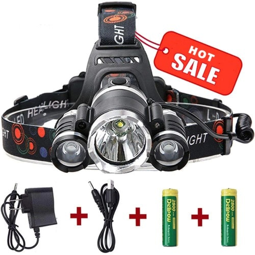 Super-bright, Waterproof, Rechargeable Headlight Torch