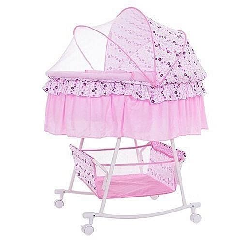Baby Toddler Cradle Bassinet Crib Bed With Mosquito Net