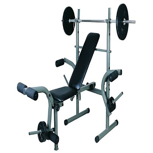 Excellent Standard Bench Press With 50 Kg Weights Plus Bar Gmtry Best Dining Table And Chair Ideas Images Gmtryco