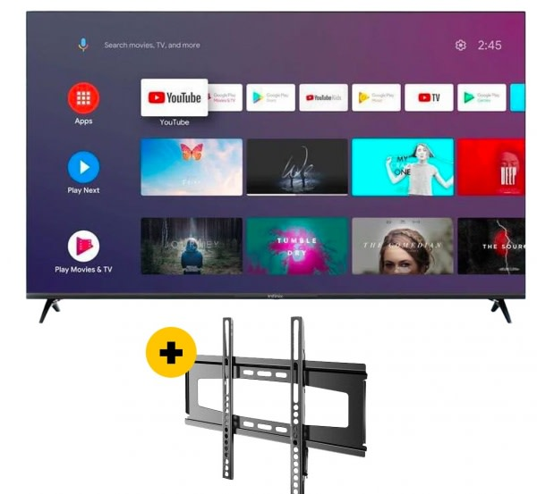 32' Hd Smart Android Television + Wall Bracket.