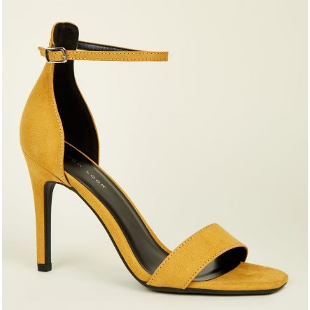 8212d61472 New Look Mustard Suedette Square Toe Two Part Sandals | Konga Online ...