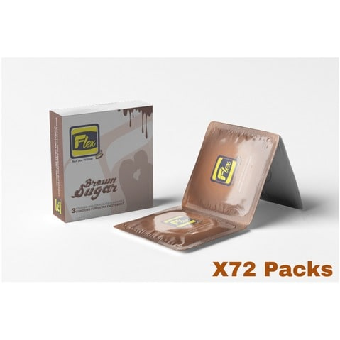 Flex Treasure Island Condom- A Carton Of 72 Packs.