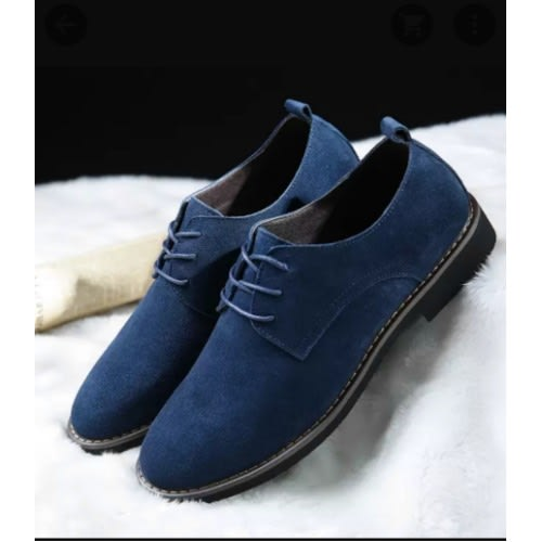 Casual Suede Shoes For Men- Blue