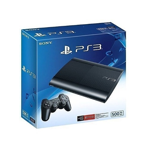 Playstation 3 Super Slim Console 500gb + 40 Games Such As Fifa 19, Pes19, Red Dead Redempt