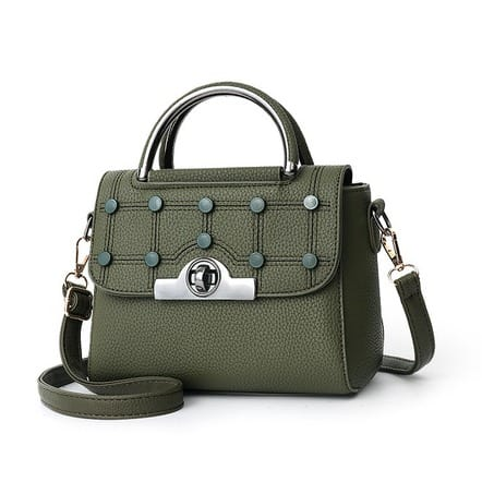 Women's Portable Hand Bag - Army Green