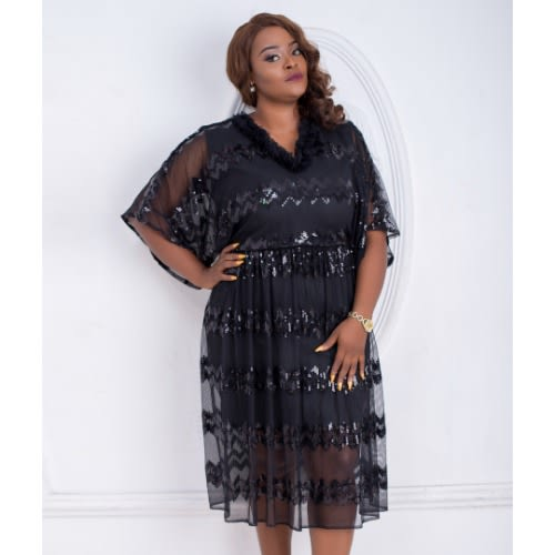 Eunice Plus Size Dress - Black