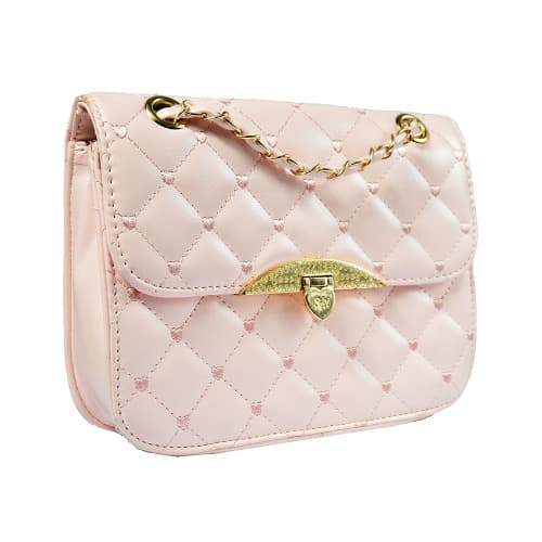 651ec3bf410 Quilted Crossbody Chain Strap Purse - Light Pink   Konga Online Shopping