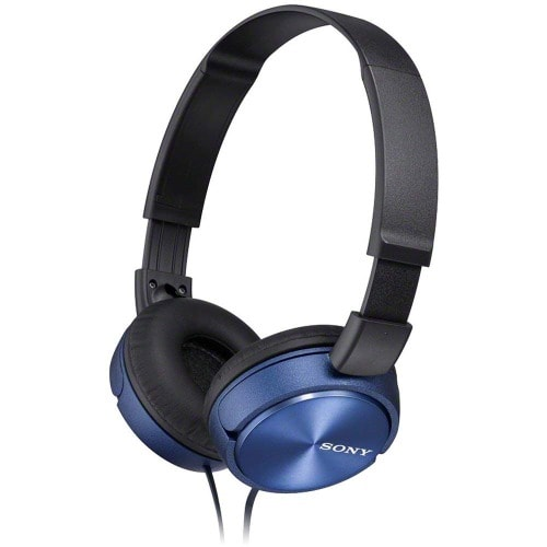 Mdrzx310l.ae Foldable Headphone - Metallic Blue