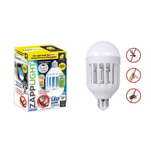 Zapp Light Mosquito Repellant Bulb - Insects Killer