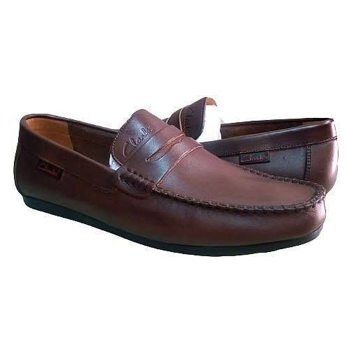 ad2b6ef1 Men's Trendy Brown Leather Loafers - Free Sock