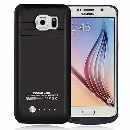 finest selection 2c933 503e3 Samsung Galaxy S6 Rechargeable External Protective Battery Case