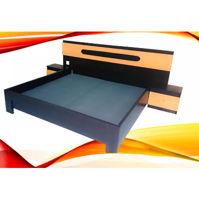 Luxury Cupid 6ft X 6ft Bed Frame With 2 Bed Side + Free Quality Bed Spread