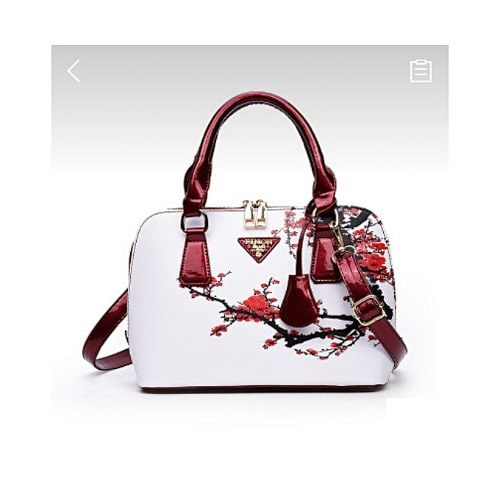 Ladies Floral Print Porcelain Handbag