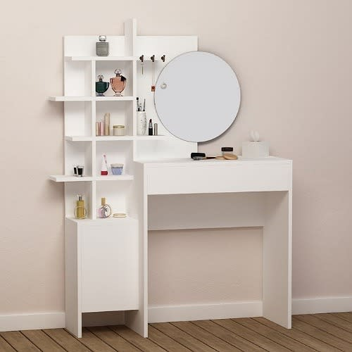 Dressing Table With Mirror White, How To Mirror A Table