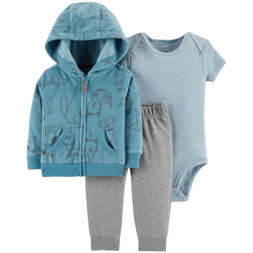 1f53e06ec Carter s Baby Boy Extra Soft Fleece Hood Jacket Cardigan Set ...
