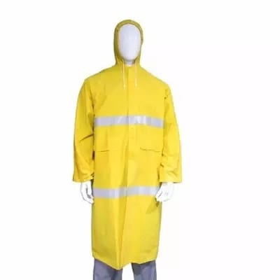 Long Rain Coat with Reflector