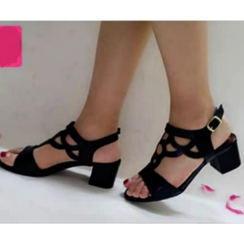d91c90c4868 Mini Block Heel Leather Sandal-black