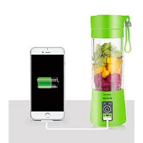 Rechargeable Fruits Smoothie Blender With USB-Powerbank For Charging Phones-Device - 380ml